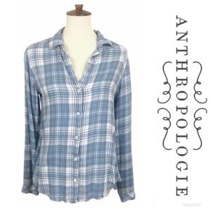 NWOT ANTHROPOLOGIE Cloth & Stone Flannel Sz S $98!